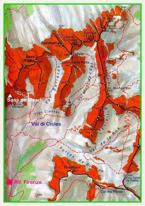 Sass de Mesdì map