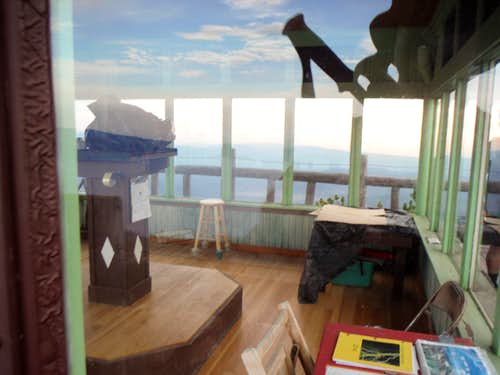 Inside the lookout tower
