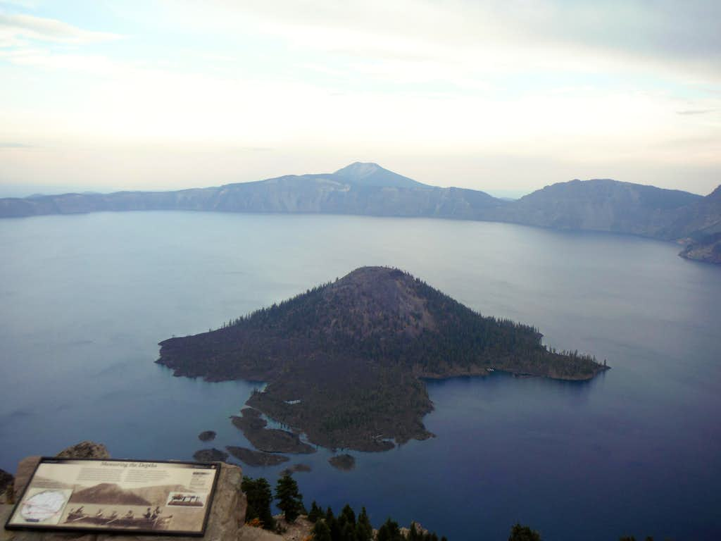 Wizard Island from the summit