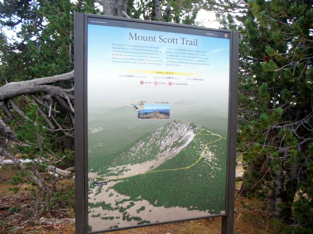 Trail Map from the Trailhead