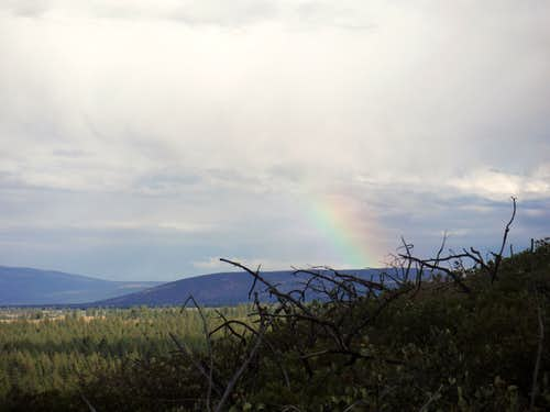 Rainbow over the eastern mountain
