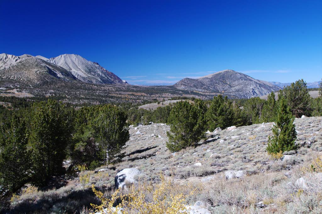 Mt. Morgan North (left) and Red Mountain (right)