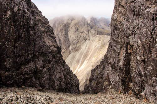 Looking down the Great Stone Chute