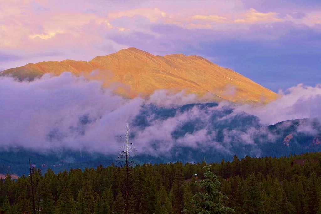 Bald Mountain at dusk