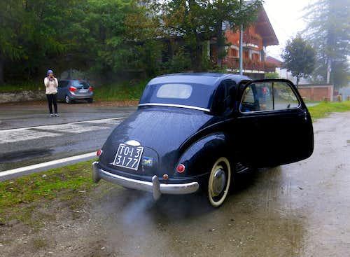 An old Fiat Topolino... still running in Orco Valley