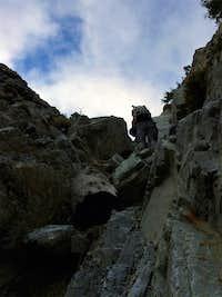 Upward climb on Sugarloaf