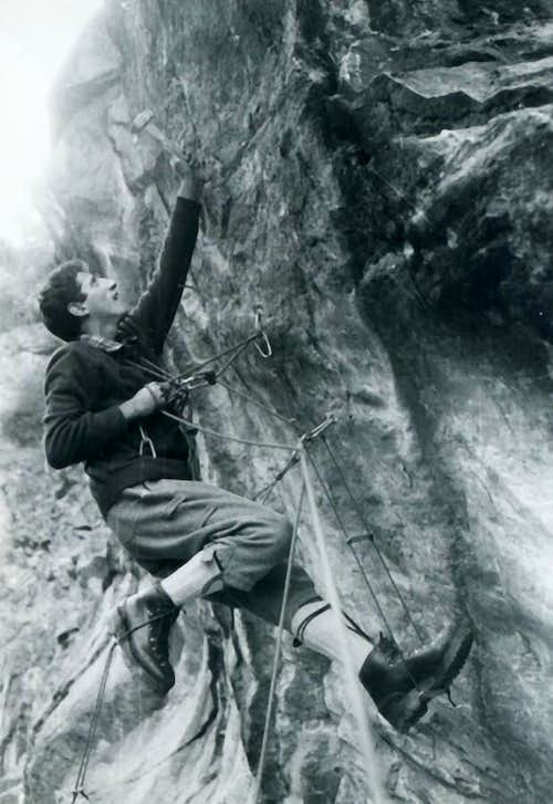 Becca: Artificial Climbing on ancient Dard Gorge 1967