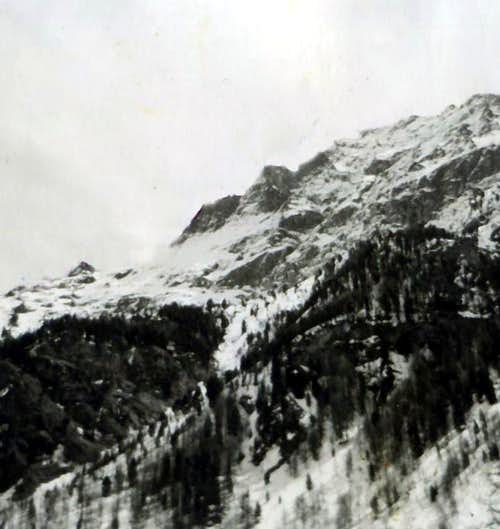 Becca di Nona North Face before the landslide 1966