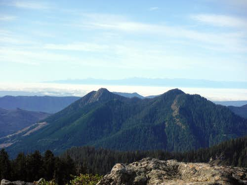 Big and Little Deer Peak from Gee Point