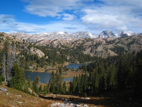 View from the saddle above Martin Lake
