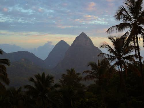 Both Pitons from Mt. Lastic