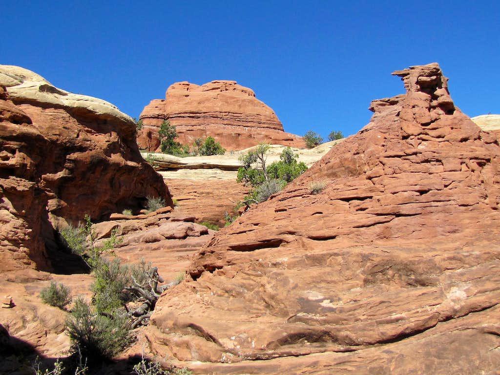 Hiking out of Elephant Canyon