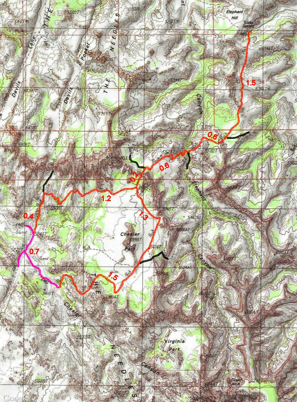 Chesler Park Map