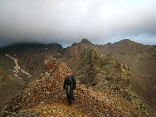Josh on Malemute Peak