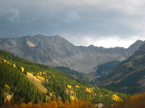 Mountains at the head of Castle Creek