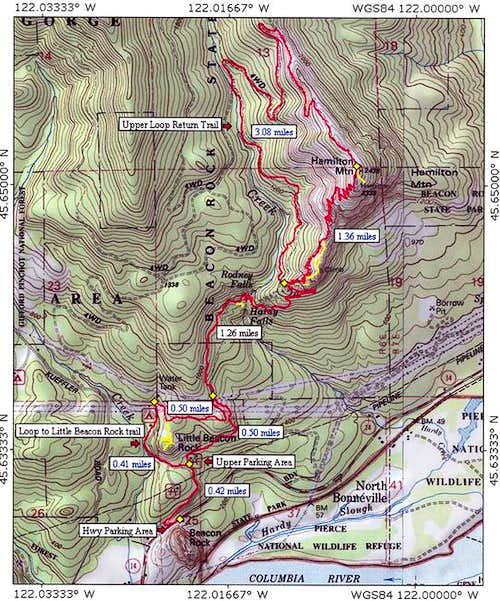 Hamilton Mountain's trail...