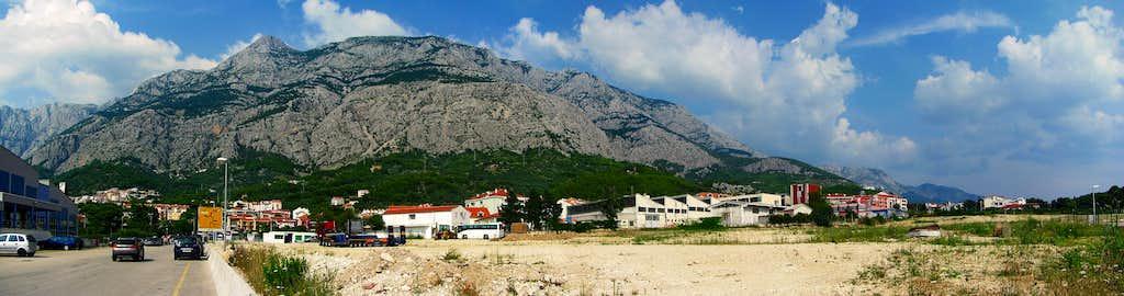 Biokovo from Makarska