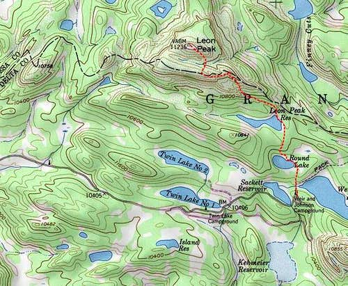 Topo of route