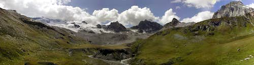 The head of  Val di Rhêmes<br>from Punta Basei to Granta Parei