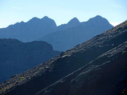 Cottonwood Ridge peaks