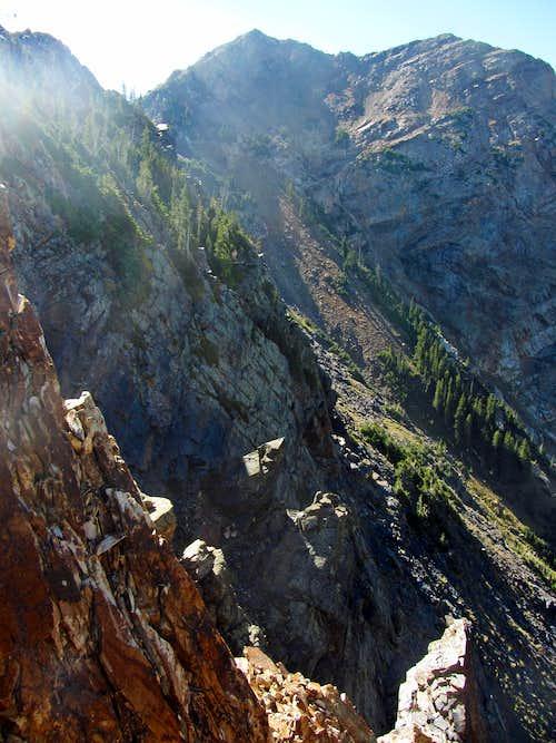 Steep north ridge