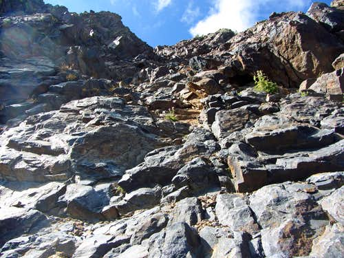 North ridge gully