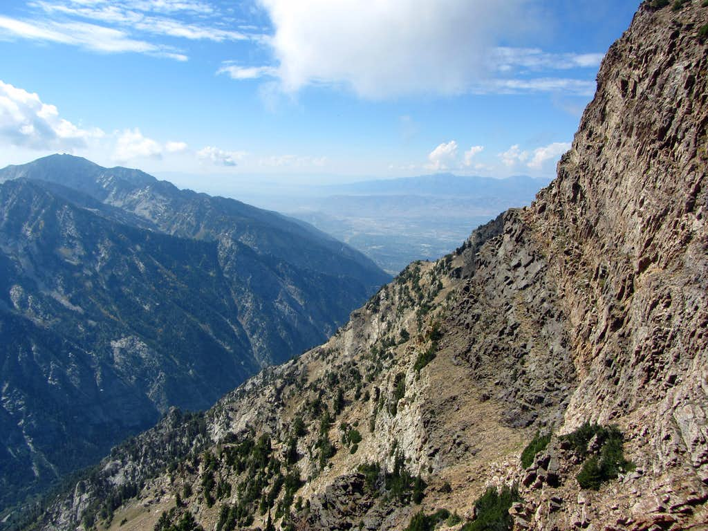 Lone Peak from Twin Peaks