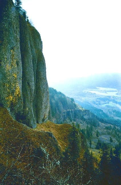 Looking down to the Gorge...