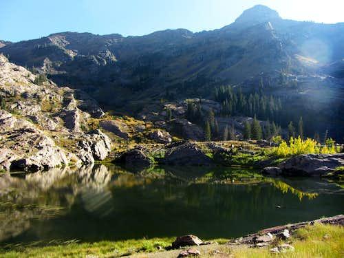 Mount Dromedary over Lake Lillian