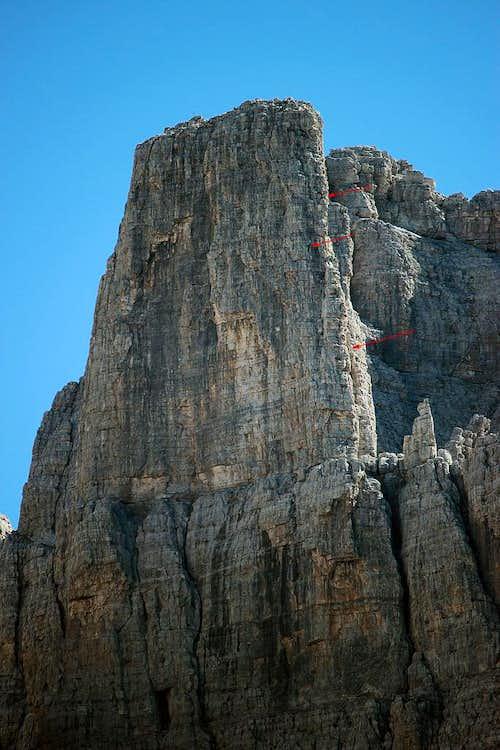 Campanil Basso -. summital part of the N wall