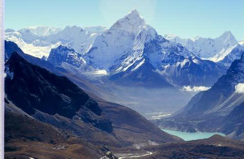 Vista sulla valle del Khumbu...