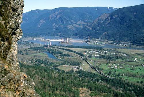 The view of Bonneville Dam...