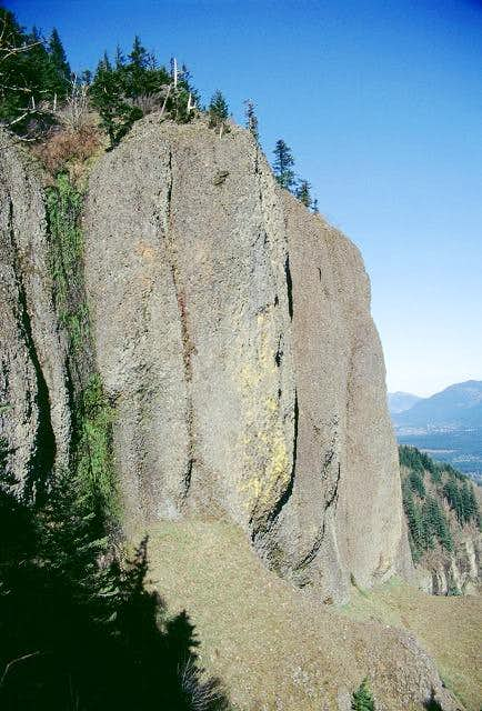 The upper cliffs zoomed in a...
