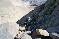 Second Crack Line up to Glacier Gap