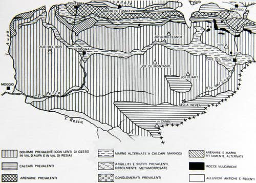 Lithology of Western Julian Alps