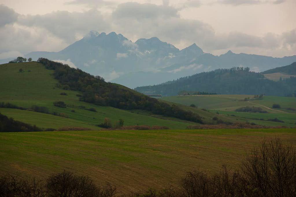 High Tatras from Stara Lubovna area