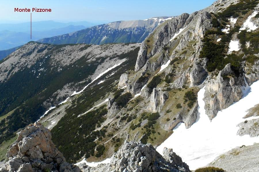 Mt. Pizzone (from the east ridge of Mt. Acquaviva)