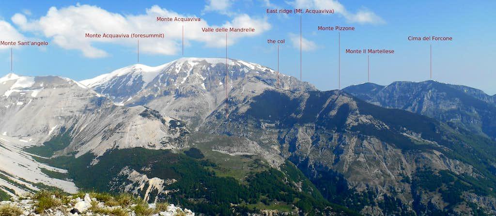 Panorama Majella- Monte Pizzone