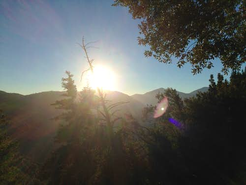 Sunrise over San Gabriels near Vincent Gap