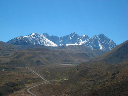 Mountains at the head of the Rio Yeso valley