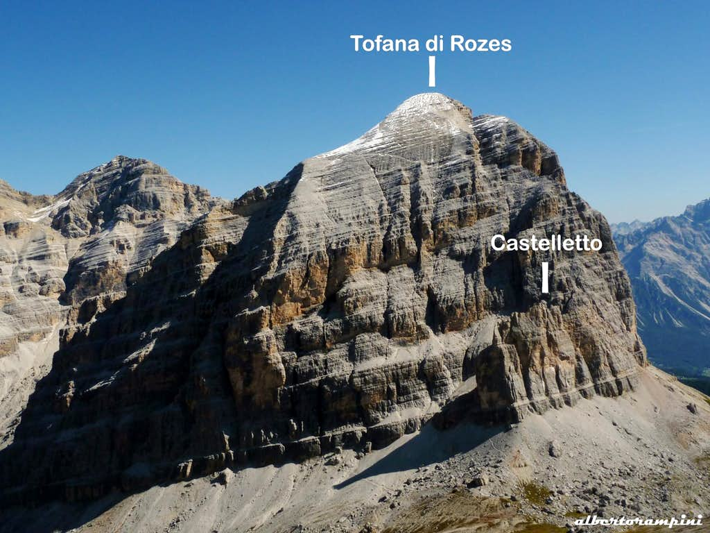 Tofana di Rozes and Castelletto