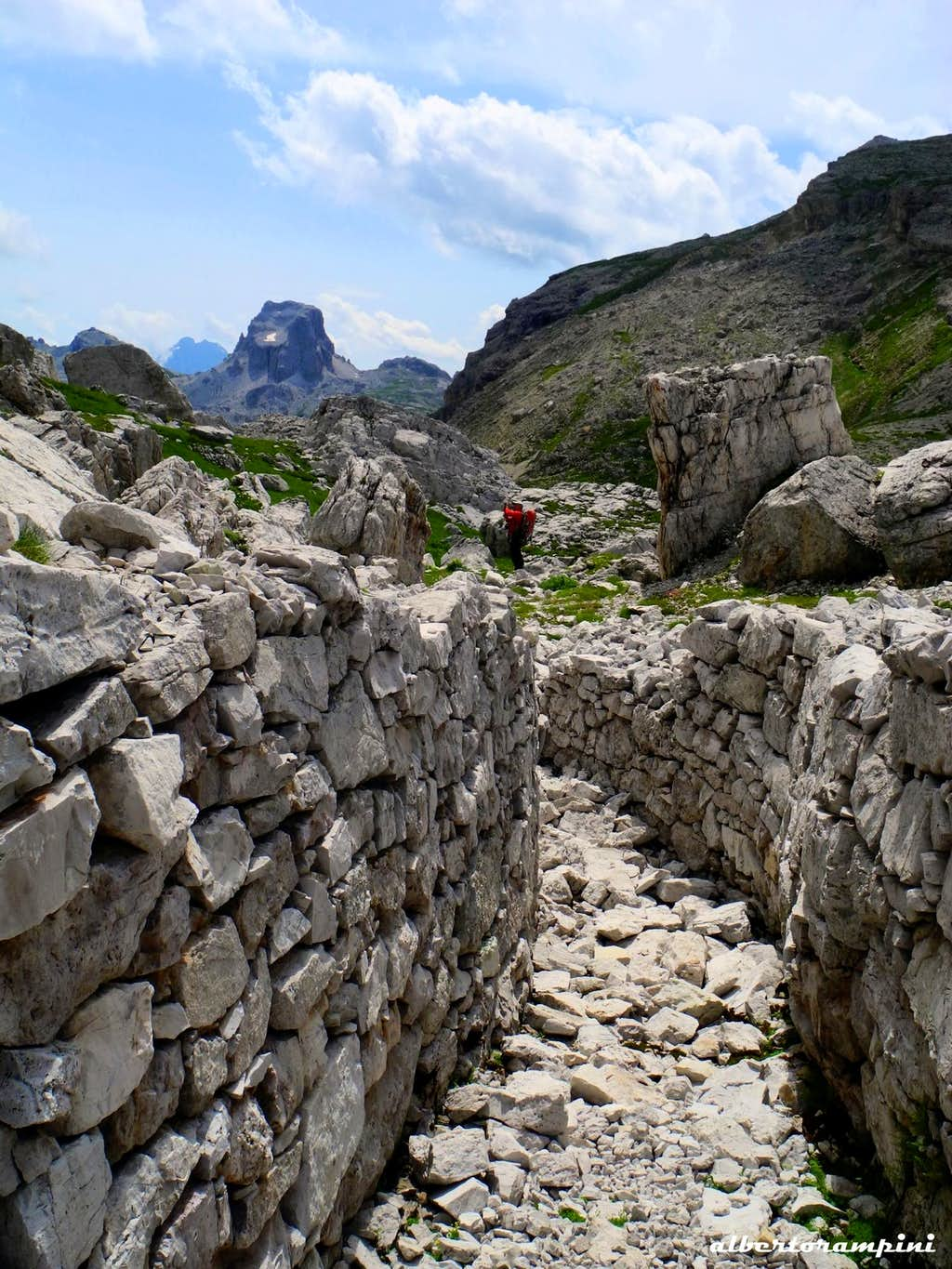 First World War trench along the path to Castelletto