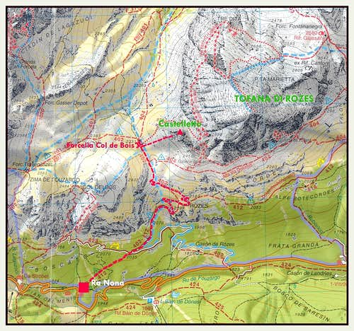 Castelletto map
