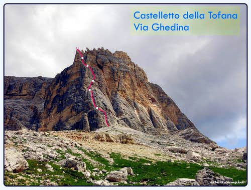 Castelletto Ghedina topo