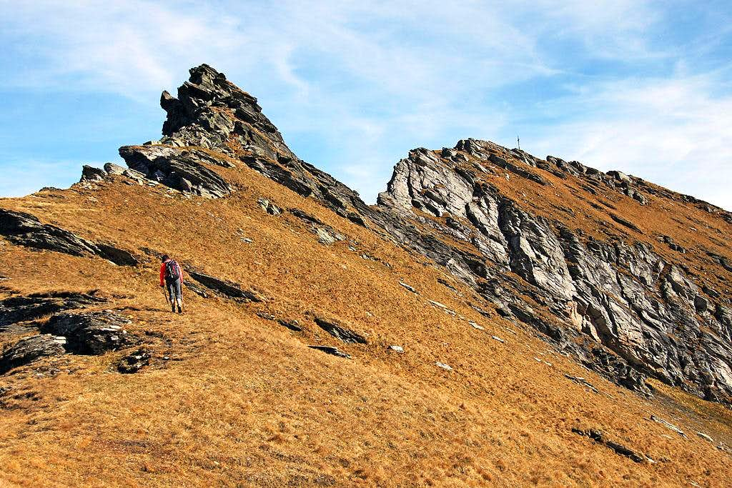On the W ridge of Wandspitze