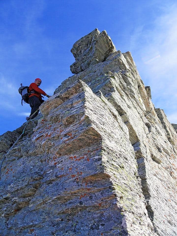 On Wandspitze W ridge
