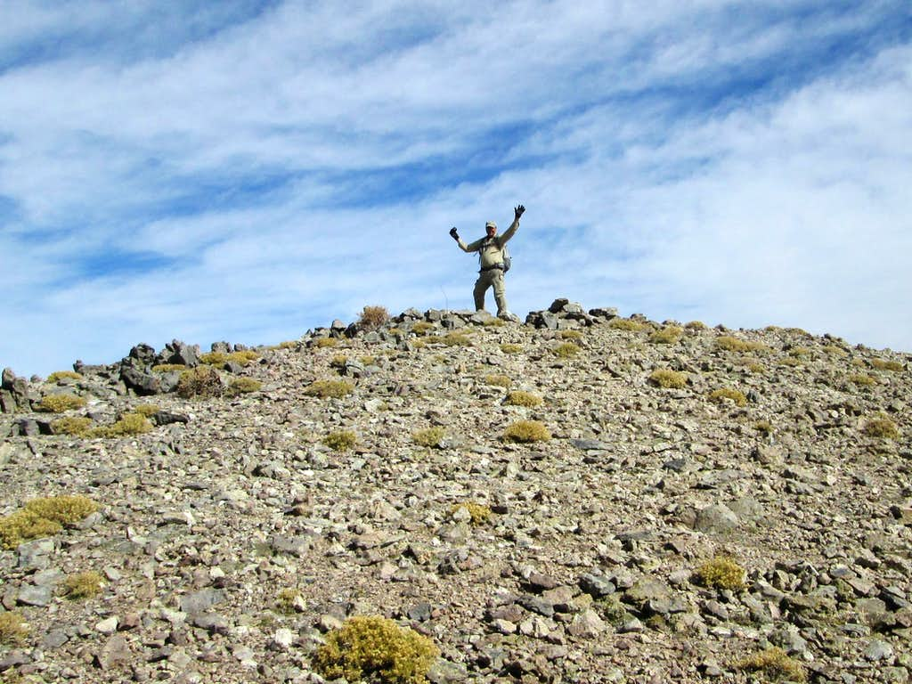 The top of Toiyabe Dome