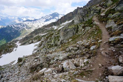 The trail up to Furkahorn