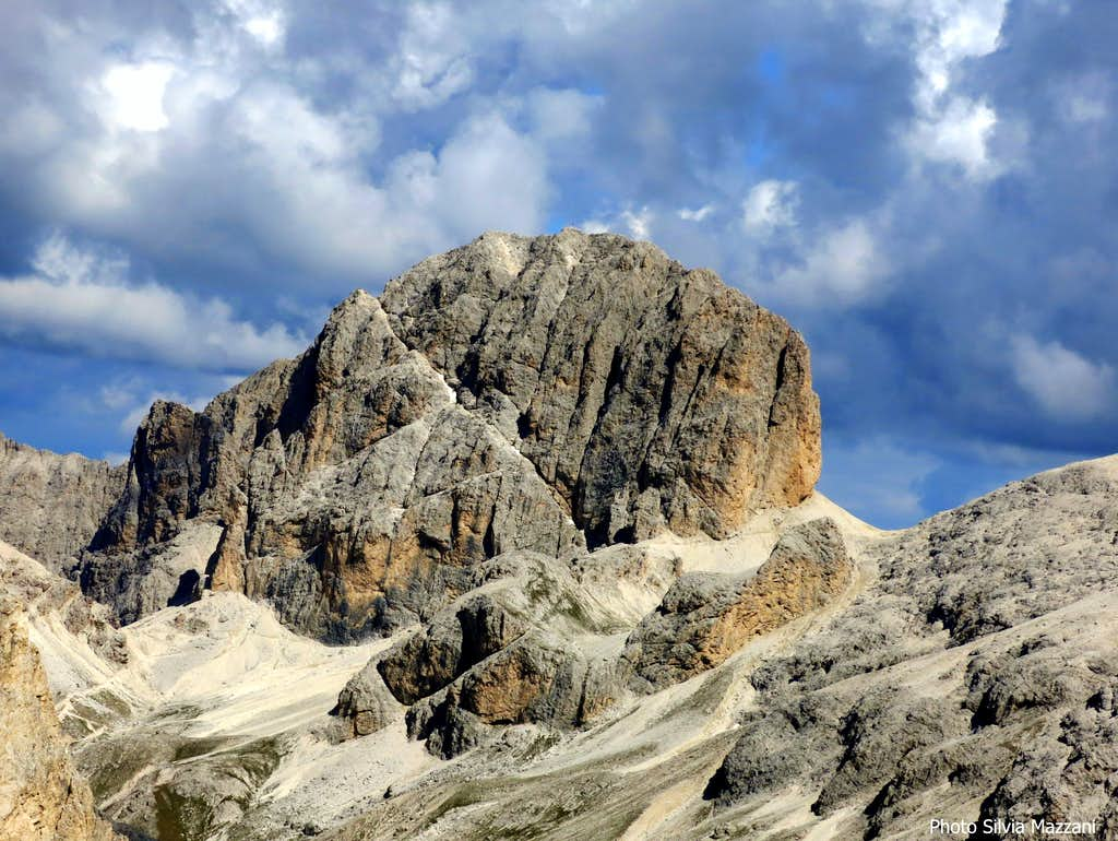 Catinaccio d'Antermoia seen from the summit of Cresta di Davoi