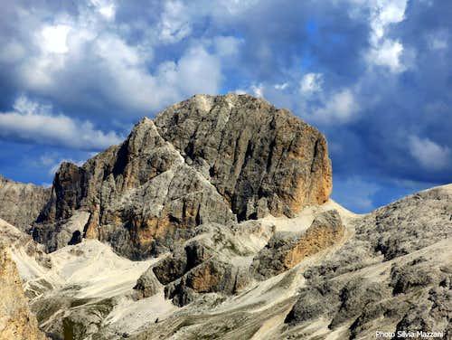 Catinaccio d'Antermoia seen from the summit of Cresta di Davoi